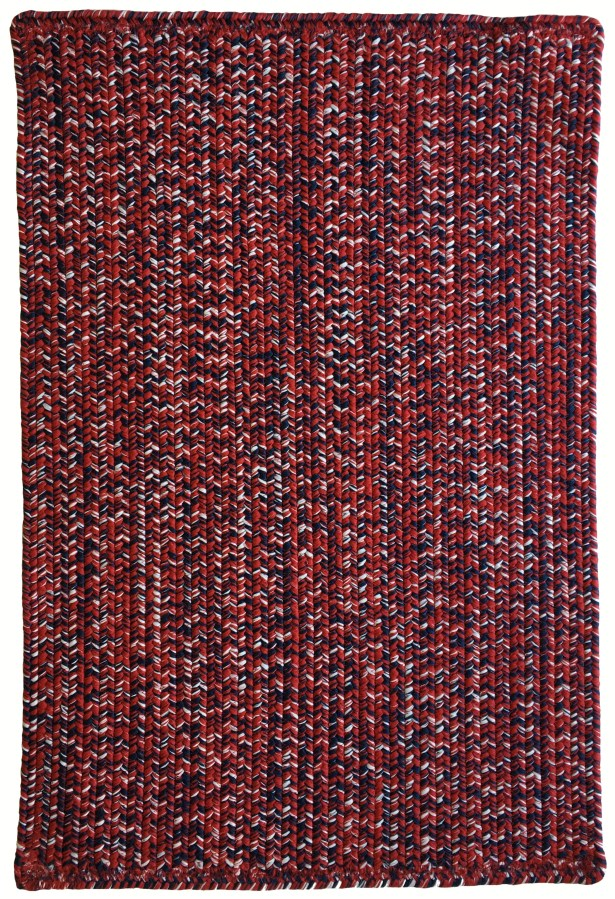 One-of-a-Kind Aukerman Hand-Braided Red/Navy Indoor/Outdoor Area Rug Rug Size: Rectangle 7' x 9'