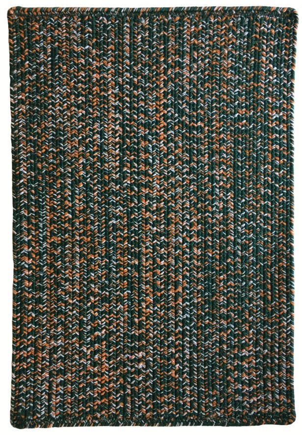 One-of-a-Kind Aukerman Hand-Braided Green/Orange Indoor/Outdoor Area Rug Rug Size: Square 8'6