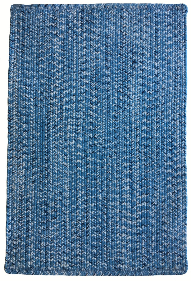 One-of-a-Kind Aukerman Hand-Braided Light Blue/Navy Indoor/Outdoor Area Rug Rug Size: Rectangle 8' x 11'