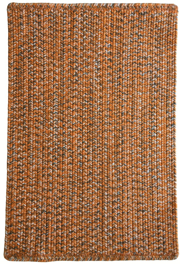 One-of-a-Kind Aukerman Hand-Braided Orange/Gray Indoor/Outdoor Area Rug Rug Size: Rectangle 5' x 8'