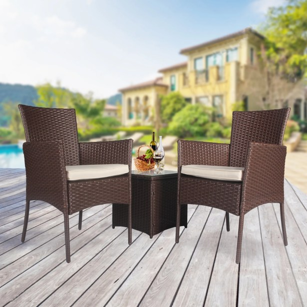 Willow 3 Piece Rattan Seating Group with Cushions