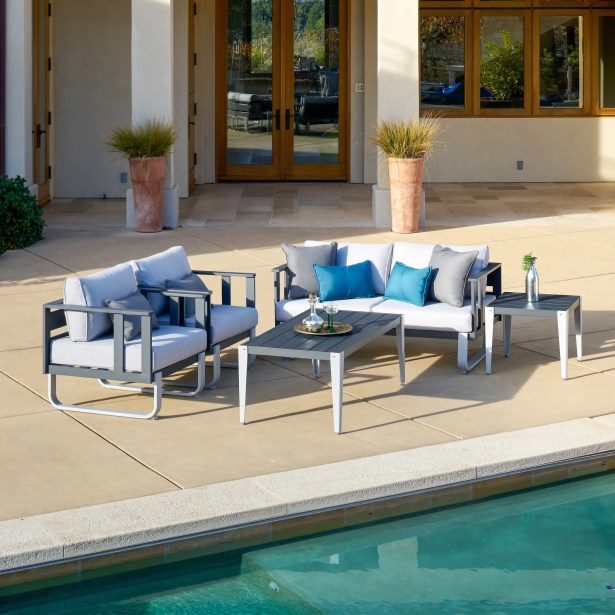 ArAgon 5 Piece Deep Seating Group with Cushions