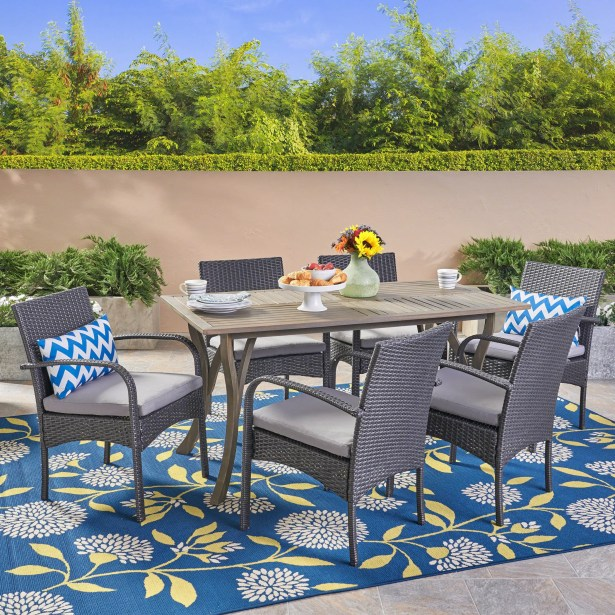 Guillory 7 Piece Dining Set with Cushions