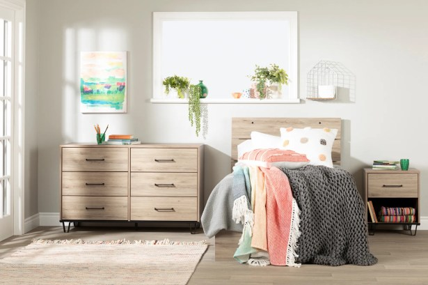 Fakto Industrial Full Mates's & Flate's Configurable Bedroom Set