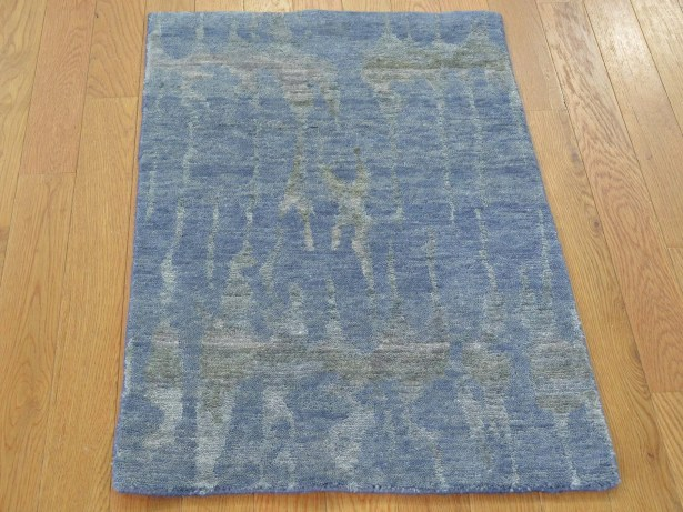 One-of-a-Kind Blairsville Abstract Design Handwoven Wool/Silk Area Rug