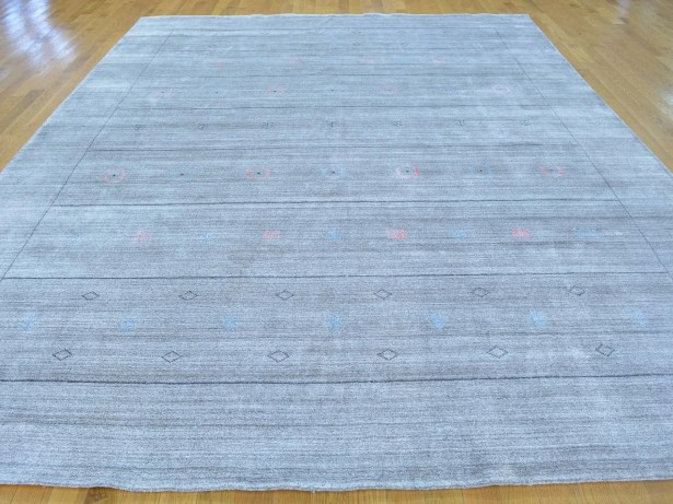 One-of-a-Kind Becker Silver Handwoven Grey Wool/Silk Area Rug