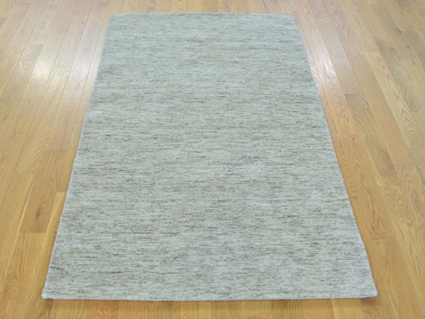 One-of-a-Kind Becker Handwoven Beige Wool Area Rug