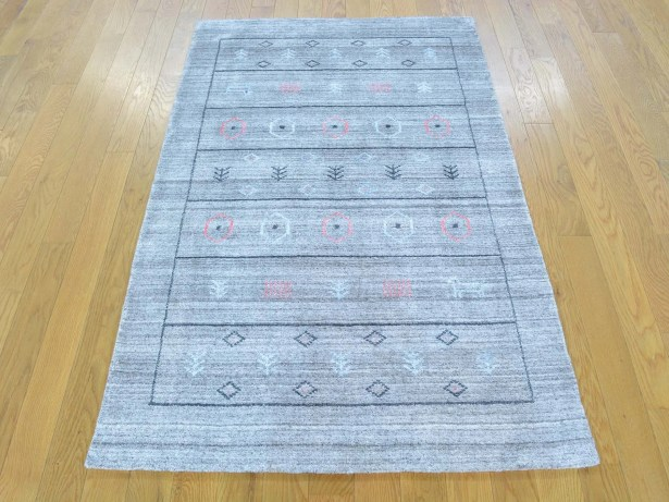 One-of-a-Kind Becker Handwoven Grey Wool/Silk Area Rug