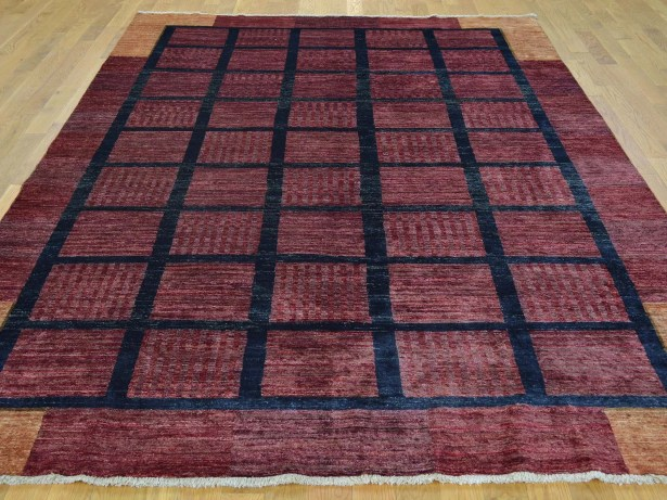 One-of-a-Kind Becker Hand-Knotted Red Wool Area Rug