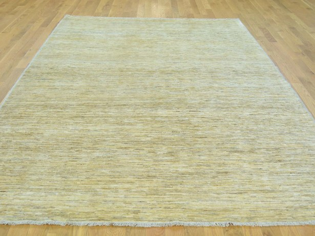 One-of-a-Kind Becker Hand-Knotted Beige Wool Area Rug