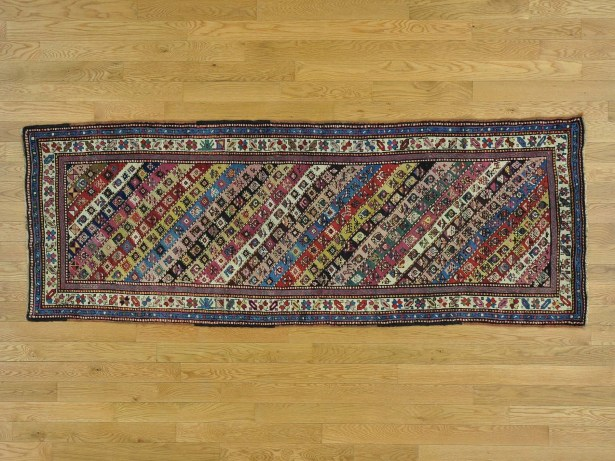 One-of-a-Kind Brando Antique Caucasian Gendge Hand-Knotted Wool Area Rug
