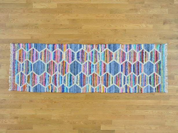 One-of-a-Kind Binette Handmade Kilim Wool Area Rug