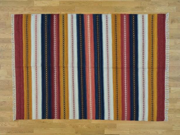 One-of-a-Kind Bloomsburg Striped Handmade Kilim Wool Area Rug