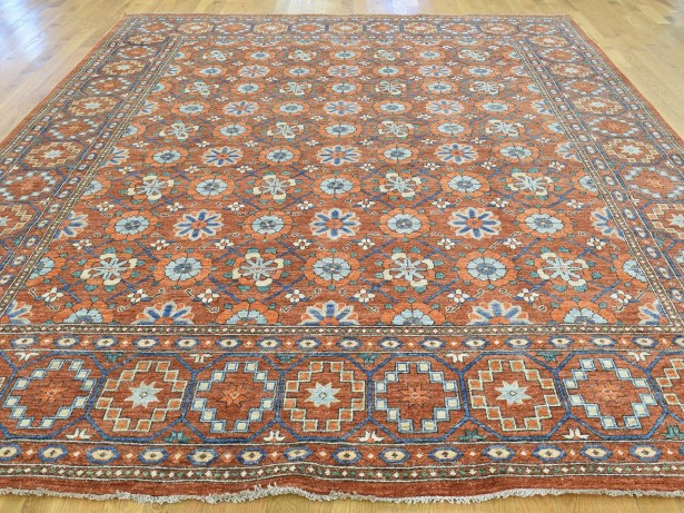One-of-a-Kind Beatrix Afgha Hand-Knotted Red Wool Area Rug