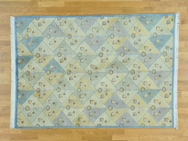 One-of-a-Kind Berndt Tibetan Hand-Knotted Wool Area Rug