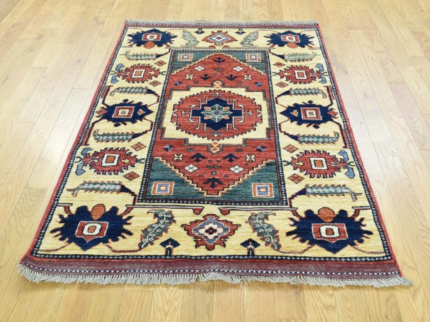 One-of-a-Kind Beatrix Afghan Er Hand-Knotted Wool Area Rug