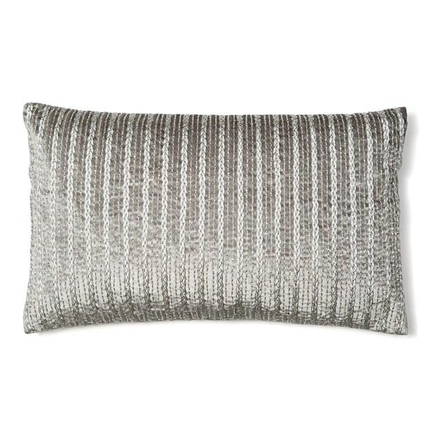 Corded Silk Lumbar Pillow