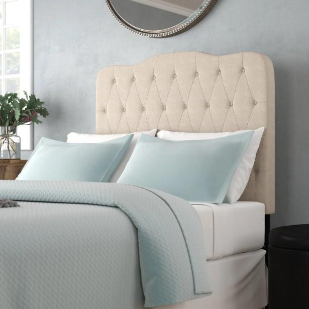 Rockhampton Upholstered Panel Headboard Upholstery: Beige, Size: Twin