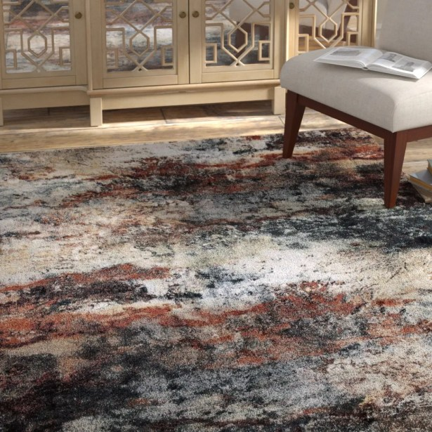 Pleasant Avenue Red Area Rug Rug Size: Rectangle 7'10