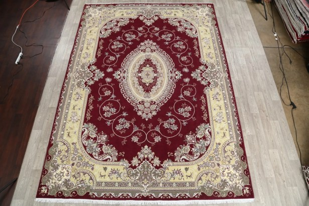 Mayorga Soft Plush Floral Tabriz Persian Burgundy/Beige/Charcoal Area Rug