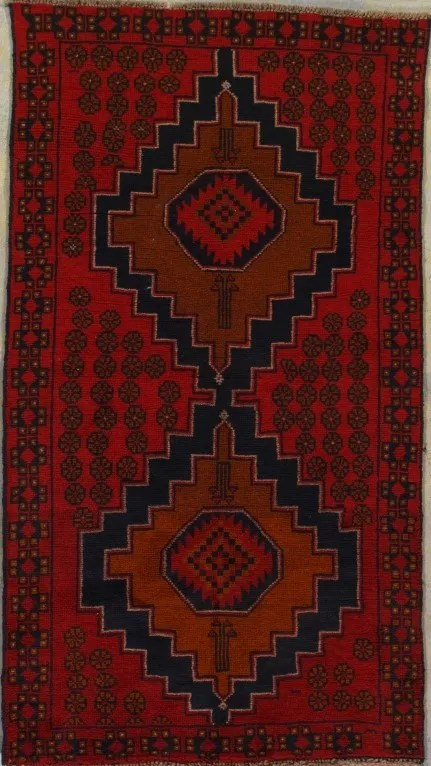 One-of-a-Kind Connors Tribal Hand-Knotted Wool Red Area Rug