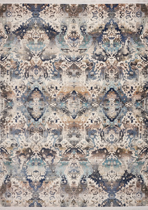 Herndon Blue/Gray Area Rug Rug Size: Rectangle 9'10