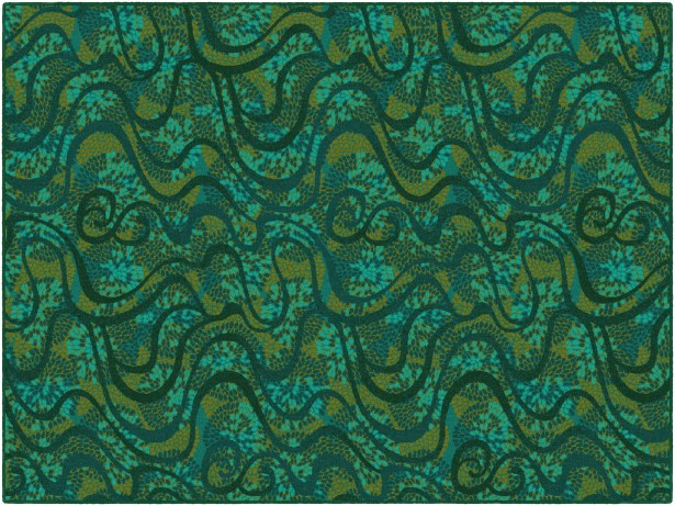 Decimus Green Area Rug Rug Size: Rectangle 7'6