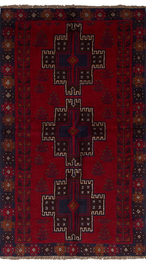 One-of-a-Kind Alaniz Hand-Knotted Wool Red/Brown Area Rug