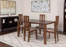 Dining Table Sets Snediker 5 Piece Solid Wood Dining Set
