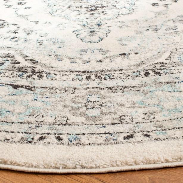 Kearns Gray/Blue Area Rug Rug Size: Rectangle 5'3