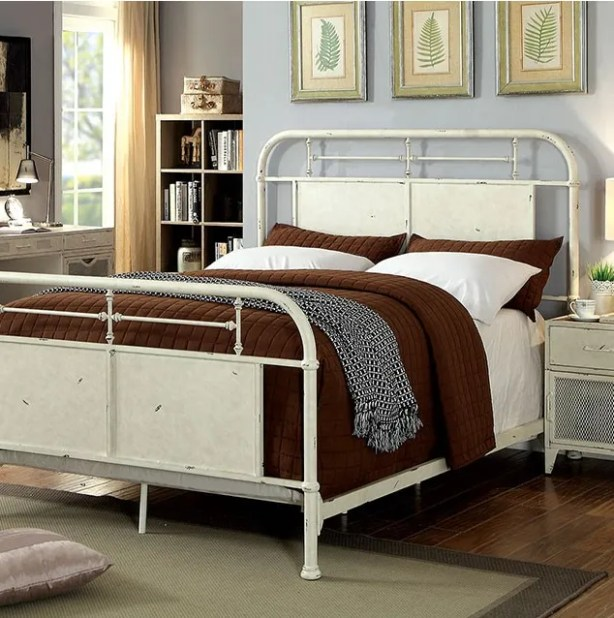 Mcwilliams Metal Panel Bed Size: Twin, Color: White