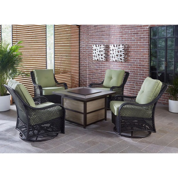 Walker 5 Piece Sofa Seating Group with Cushion Cushion Color: Green