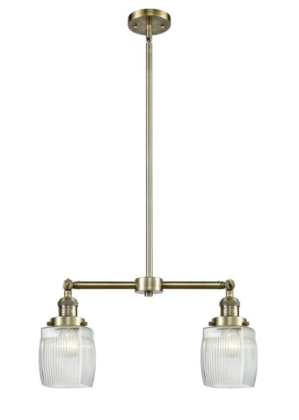 Mireya 2-Light Kitchen Island Pendant Bulb Type: Incandescent, Finish: Brushed Brass