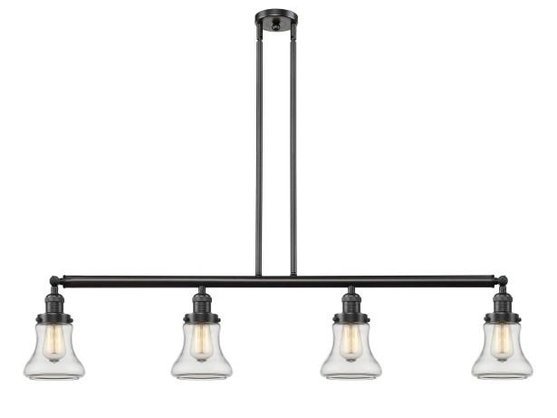 Nardone 4-Light Kitchen Island Pendant Shade Color: Clear, Bulb Type: LED, Finish: Polished Nickel