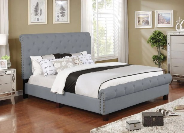 Caleigh Upholstered Panel Bed Color: Gray, Size: Queen