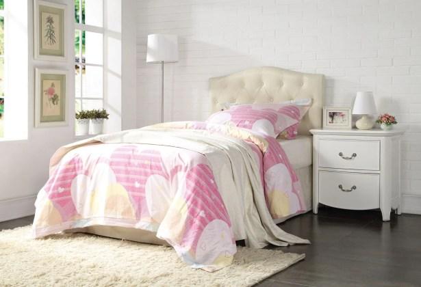Elginpark Upholstered Panel Headboard Size: Queen/Full, Color: Cream