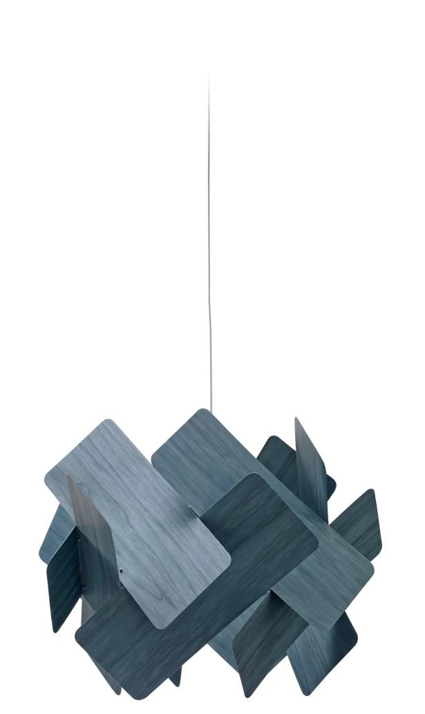 Escape 1-Light LED Geometric Pendant Features: E26 Base, Shade Color: Blue