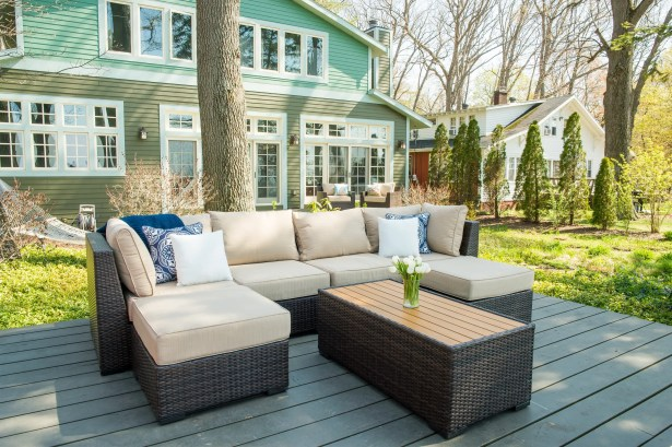 Darden 7 Piece Rattan Sectional Seating Group with Cushions Cushion Color: Sesame