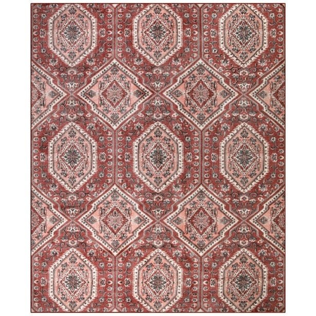 Oceanview Rose Blush Area Rug Rug Size: Rectangle 8' x 10'