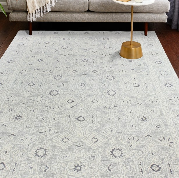 Arthurs Hand-Tufted Silver Area Rug Rug Size: Rectangle 3'9
