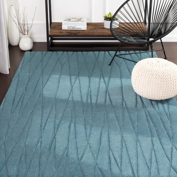 Hull Geometric Handwoven Wool Charcoal Area Rug Rug Size: Rectangle 2' x 3'