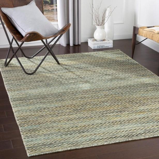 Marisela Texture Handmade Wool Beige Area Rug Rug Size: Rectangle 8' x 10'
