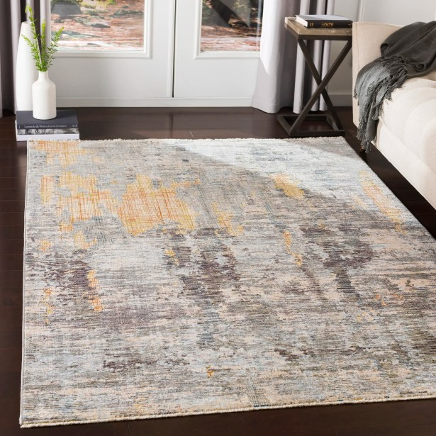 Mckeel Distressed Abstract Lime/Peach Area Rug Rug Size: Rectangle 9' x 13'1