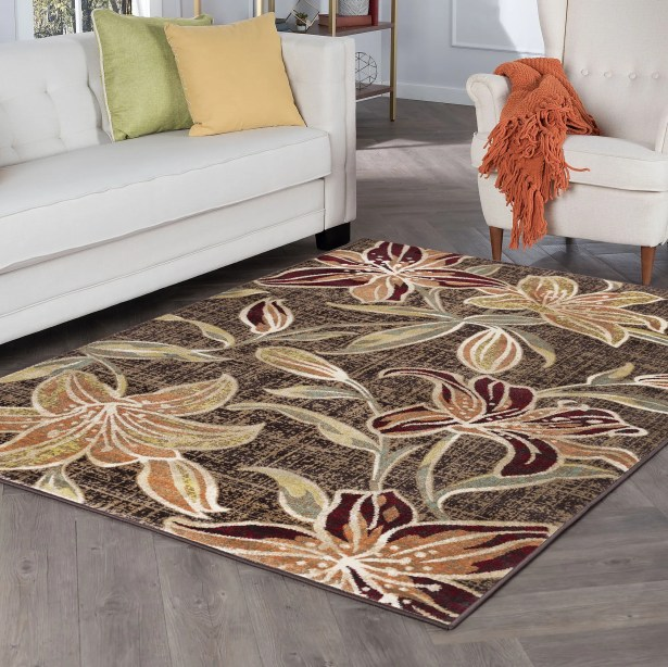 Higginson Lily Transitional Brown Area Rug Rug Size: Runner 2'3'' x 10'