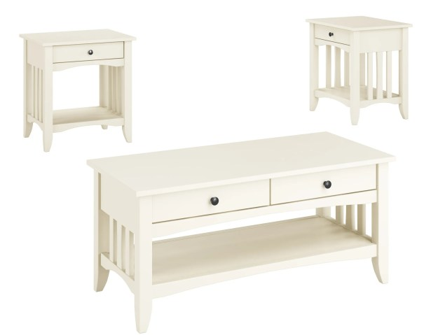 Hornung 3 Piece Coffee Table Set Finish: Antique White