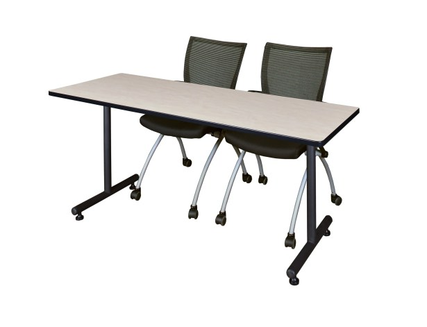 Marin Training Table with Wheels Tabletop Finish: Beige, Size: 29