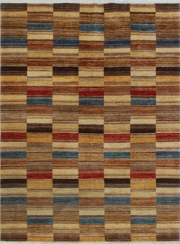 Howery Hand-Knotted Wool Brown Area Rug