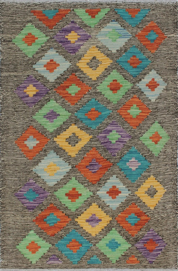 Corda Hand-Knotted Wool Brown/Beige Area Rug