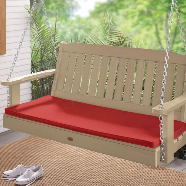 Indoor/Outdoor Sunbrella Bench Cushion Fabric: Canvas Jockey Red, Size: 1