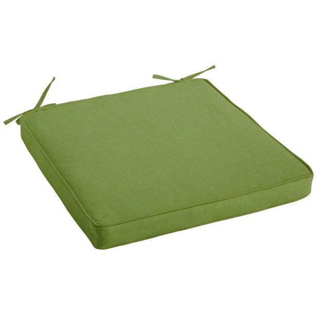Indoor/Outdoor Sunbrella Dining Chair Cushion Fabric: Spectrum Cilantro